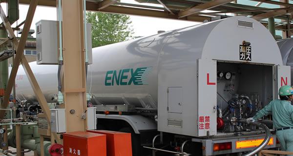 都市ガスのもととなる「LNG(液化天然ガス)」を運んでいます。